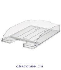 Подставка для бумаг горизонтальная Эксперт прозрачная ЛТ202